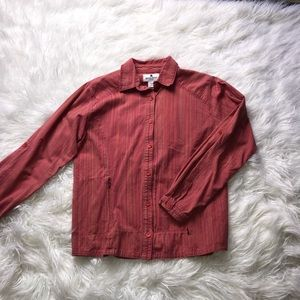 Woolrich Stripped Red Button Down Shirt